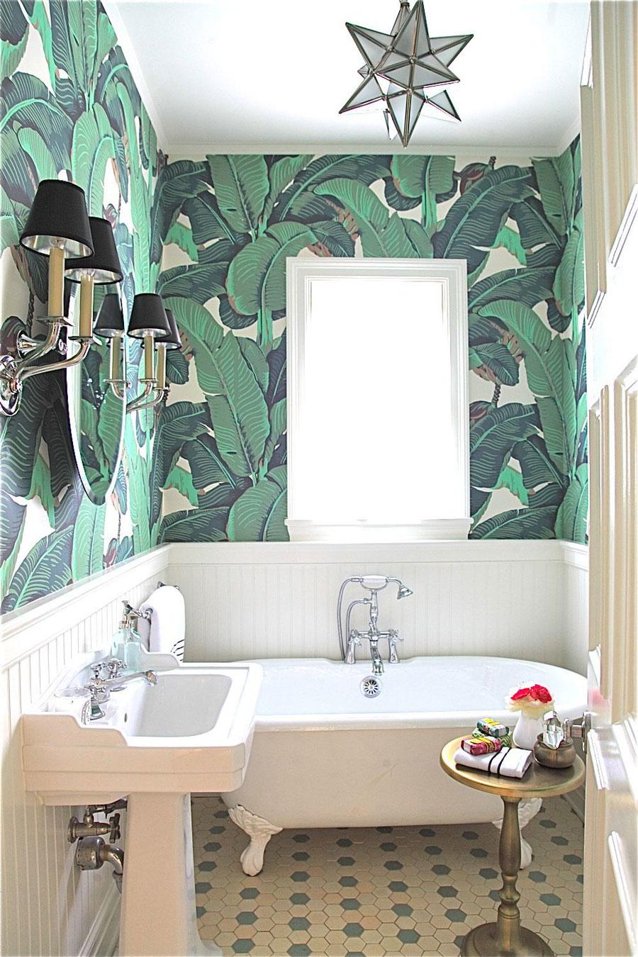razones atreverse papel mural baño