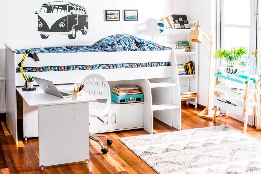 guia dormitorio infantil juvienil multifuncional