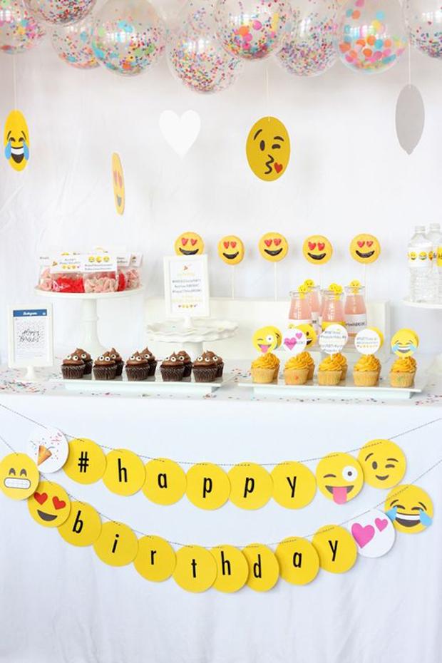 mesas dulces grandes y chicos emojis
