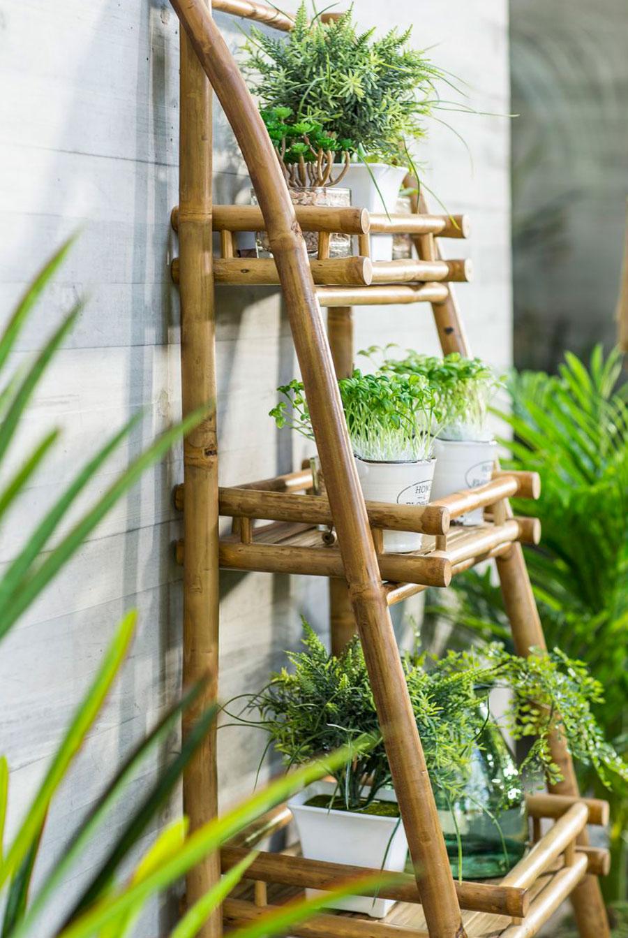 tendencia decorar con bambu estante bamboo