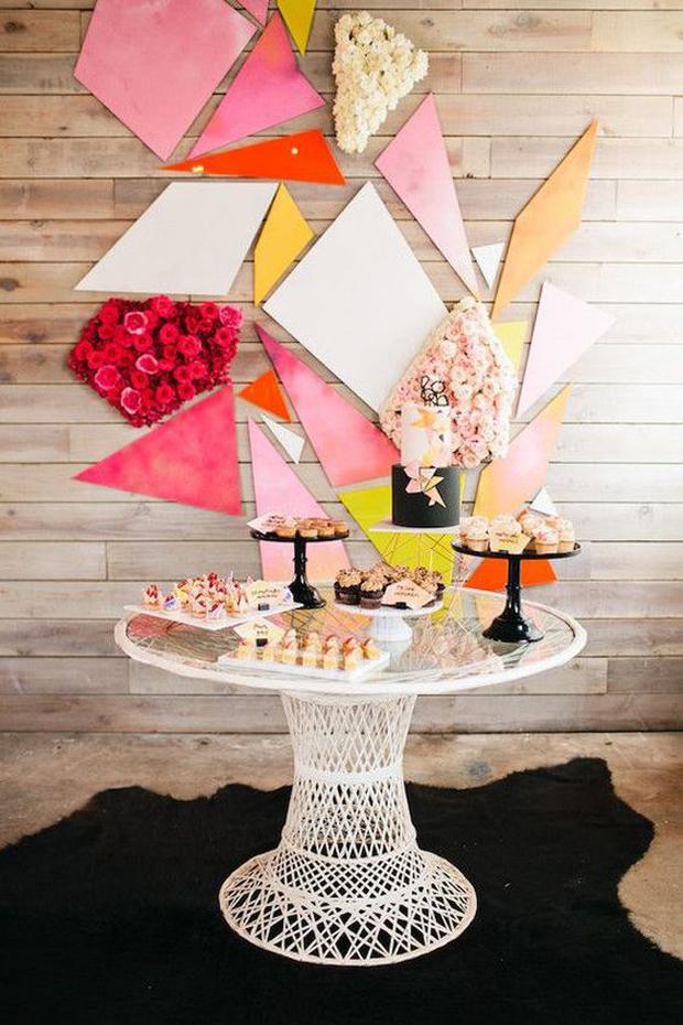 mesas dulces grandes y chicos collage papeles