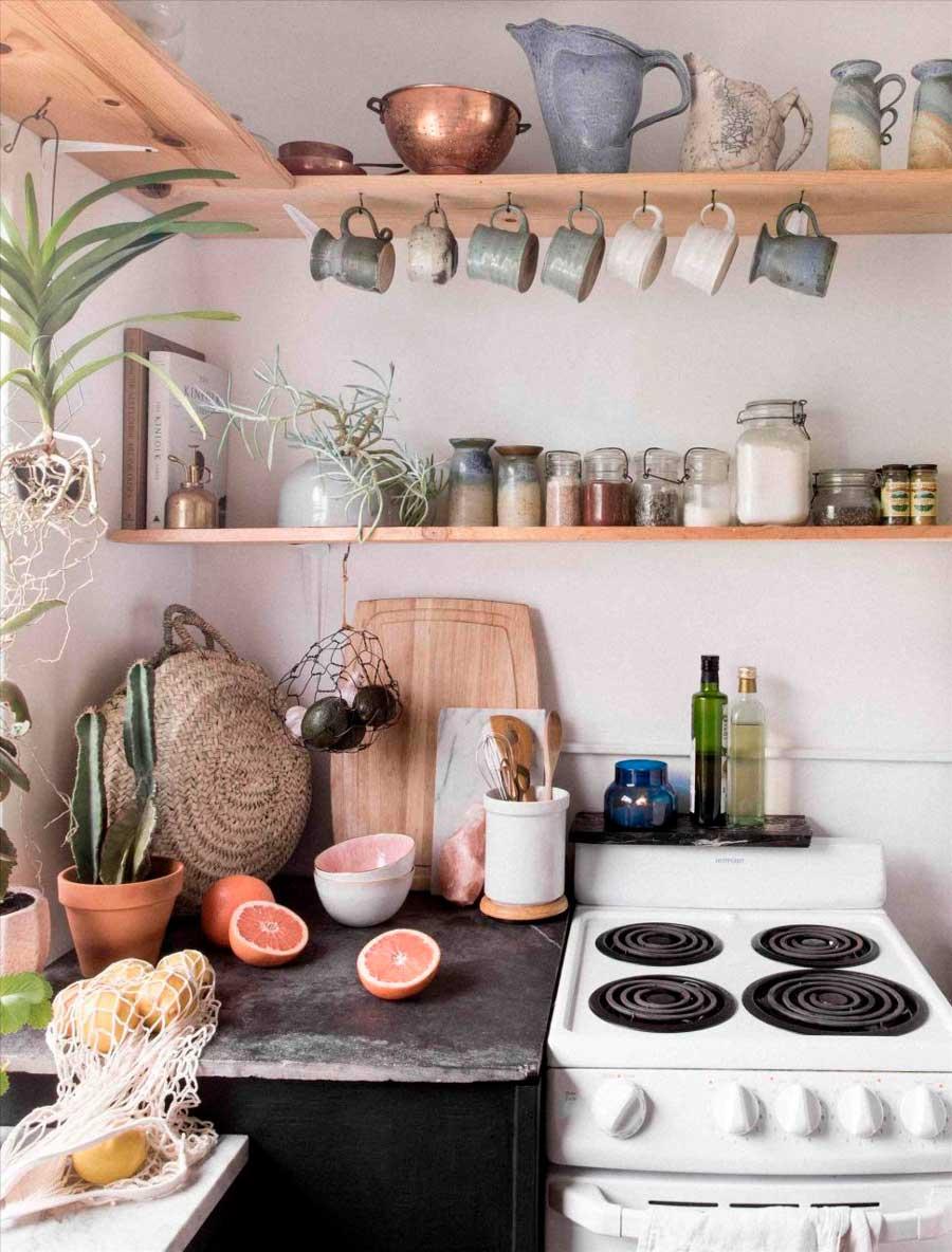 como sobrevivir cocina pequena horno