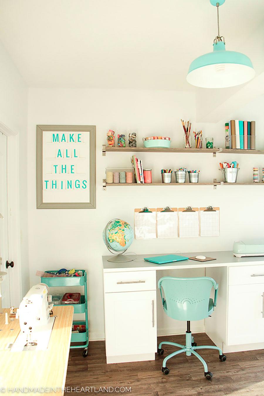 escritorio crafty lámpara